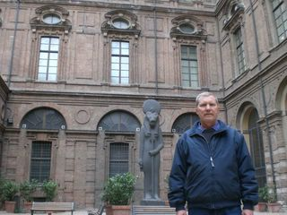 Внутренний двор музея Египетского ис кусства