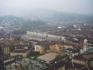 Панорама города с башни